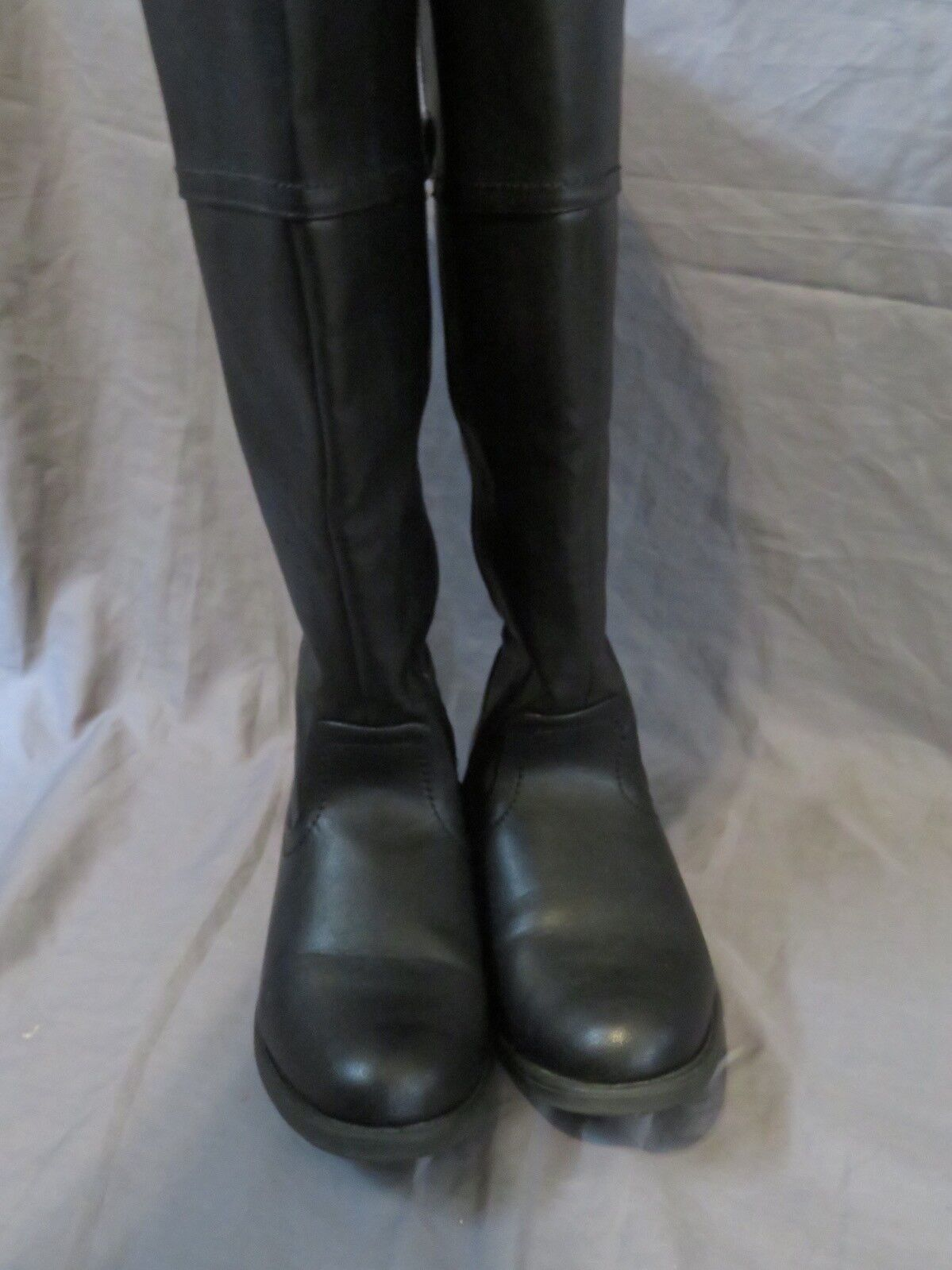 Women's Lane Bryant Black Black Black Faux Leather Zip-Up Mid-Calf Boots Size 9W 9 Wide 7bc521