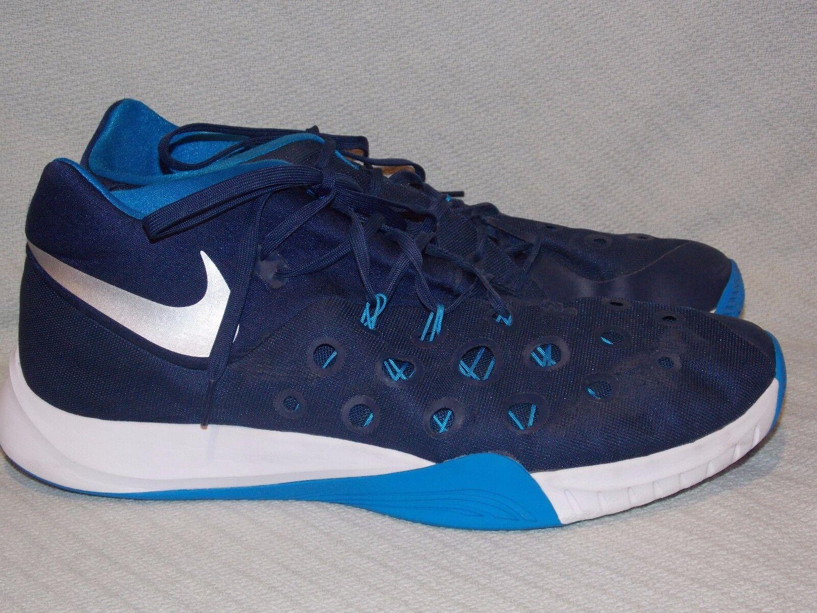 Nike zoom hyperquickness 749883-405 mitte - navy / foto blau - mitte metallic silber - größe. 480442