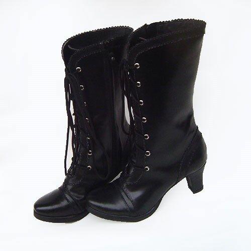 Schwarz gothic gotik lolita punk stiefel Stiefel schuhe Schuhe high heel sexy CIEL