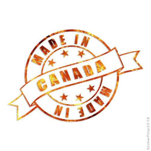 Made In Canada Stamp Logo Decal Sticker Choose Pattern Size #3934
