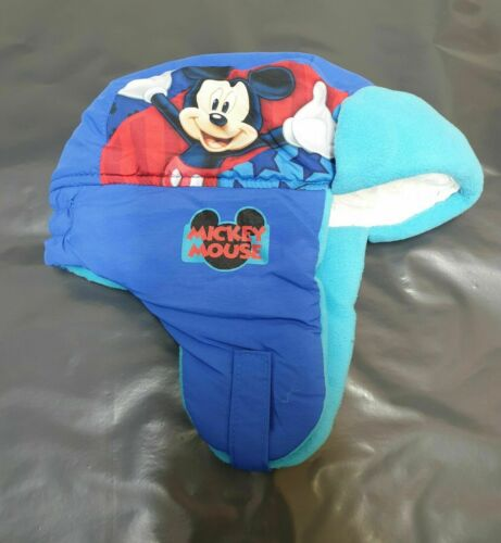 Boys Children Mickey Mouse Winter Trapper Hat One Size 3 to 10 Years