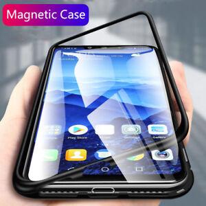 Funda-Para-Huawei-Mate-20-20X-Pro-Lite-Magnetico-Metal-Vidrio-templado-carcasa