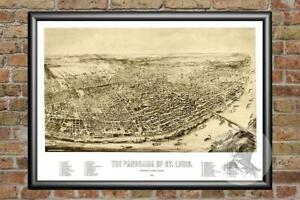 Old-Map-of-St-Louis-MO-from-1894-Vintage-Missouri-Art-Historic-Decor