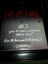 Def Leppard Hysteria 5 Million Sold Rare Original Promo Poster Ad Framed!