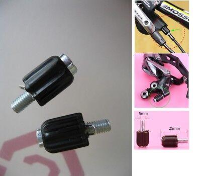 2× Road Bike Gear Cable Adjuster Derailleur M5 Barrel Screw Adjuster Tuning