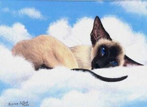 LIMITED-EDIT-SIAMESE-CAT-CLOUDS-PRINT-FROM-ORIGINAL-PAINTING-BY-SUZANNE-LE-GOOD