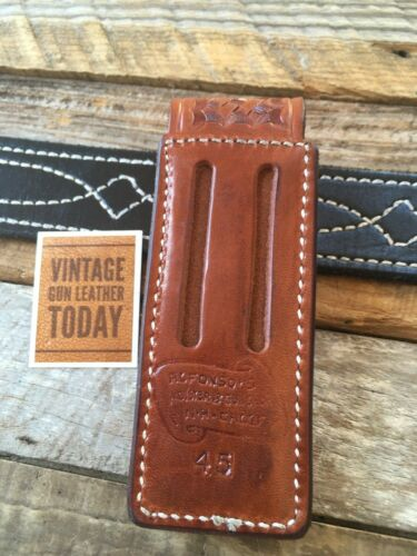 Vintage Alfonso/'s Leather Single Magazine Carrier For Steel Single Stack 45 1911