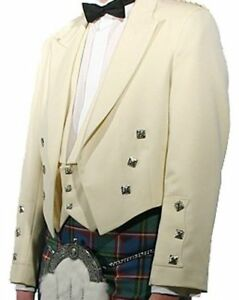 White-Prince-Charlie-Kilt-Jacket-With-Waistcoat-sizes-36-034-to-54-034