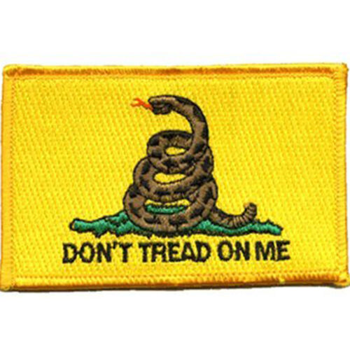 """Don/'t tread on me Flag 3.5/"""" x 2.5/"""" Sew Ironed On Badge Embroidery Applique Patch"""
