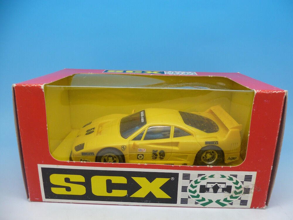 83450 SCX Ferrari F40 in Yellow, boxed