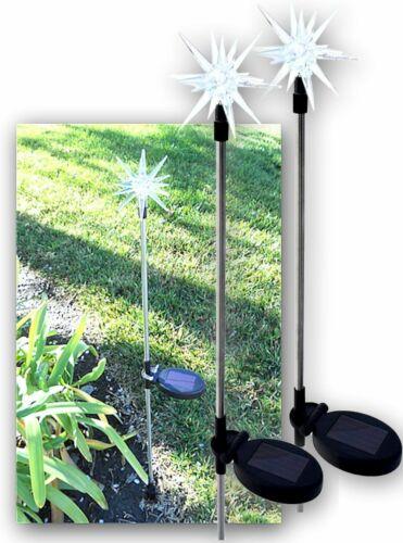 Solar Powered Starburst Yard Garden Stake Color Changing LED Light