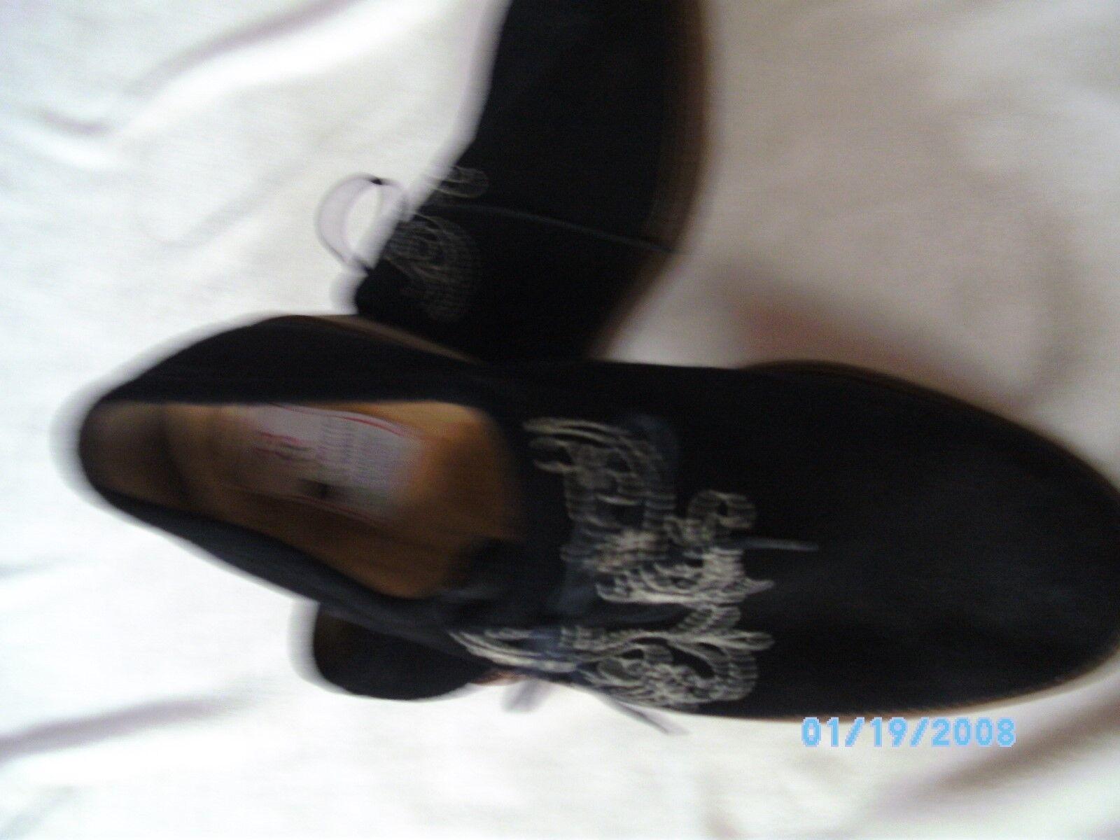 Neuwertige, hochwertige Trachtenschuhe, Herren, schwarz, Größe 43