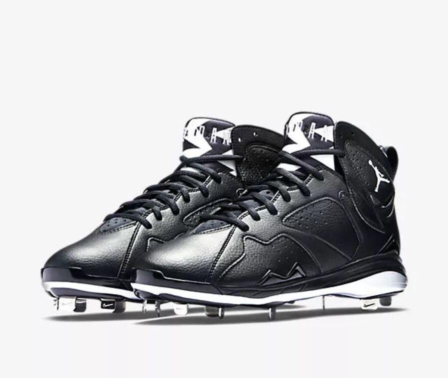 NIKE AIR JORDAN 7 RETRO METAL BASEBALL Chaussures 684943-010 noir /blanc OREO Taille 13