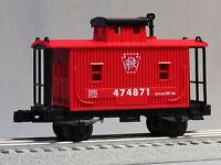 Lionel Junction Prr Bobber Caboose O Gauge Train Red Wooden Side 6-82972 C