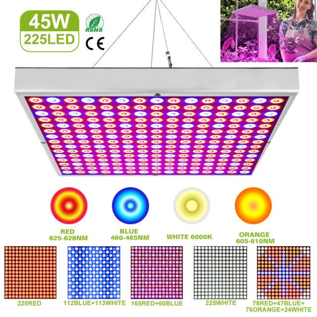 Kingbo Reflector 45w Led Grow Light Panel 225 Leds 6 Band Full Spectrum Includ For Sale Online Ebay