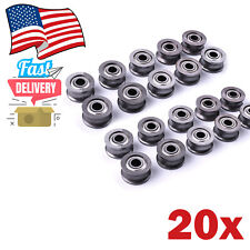 20x 624uu U Shaped Channel Bearings 4mmx13mmx7mm Guide Roller Line Bearing Track