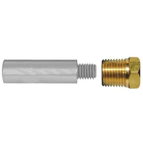 """E0 C Motor Pencil Zinc Anode 1//4/"""" Npt X 2/"""" Long With Brass Cap Dealer Direct"""