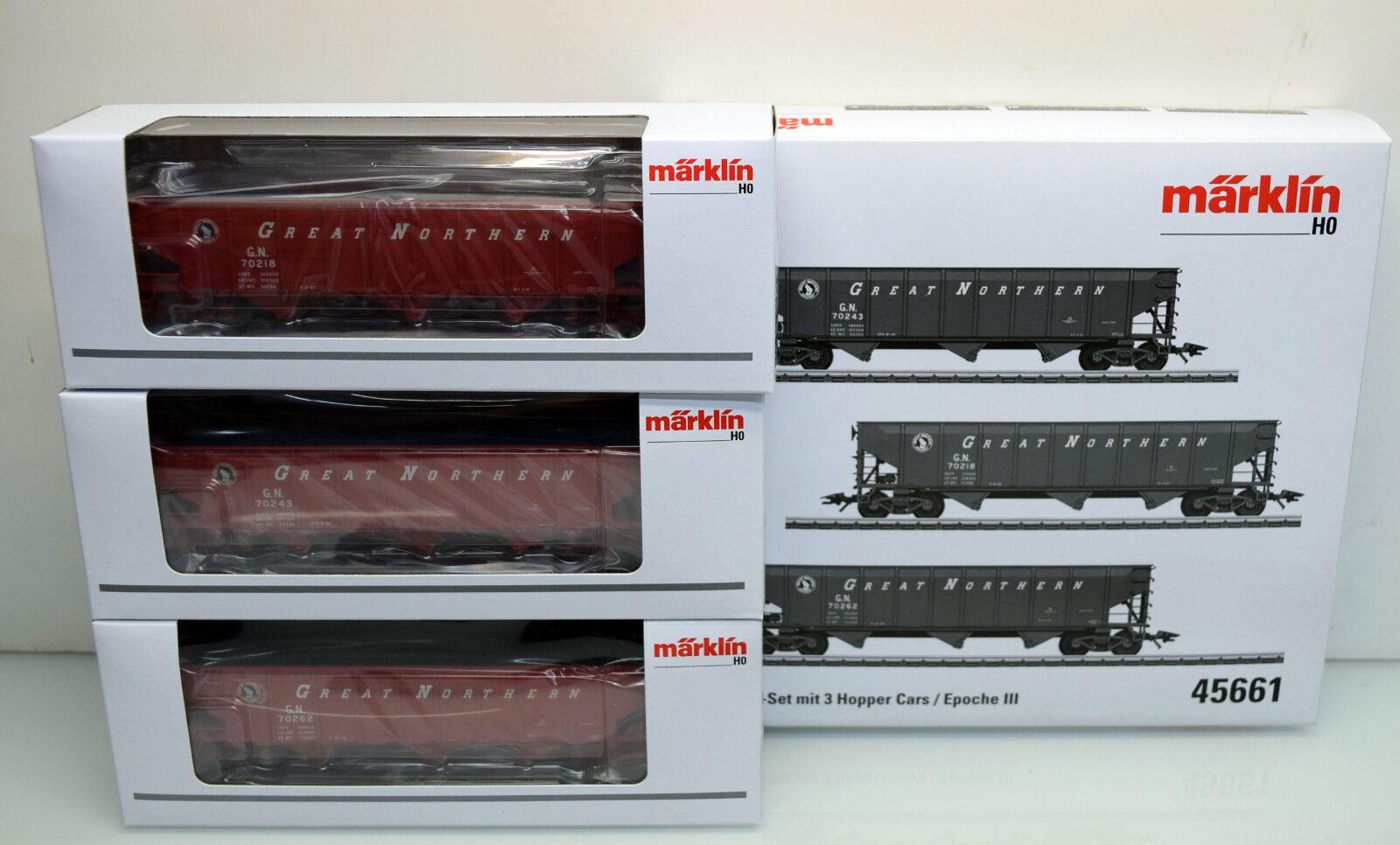 h0 45661 vagoni-Set Hopper Cars, 3 pezzi
