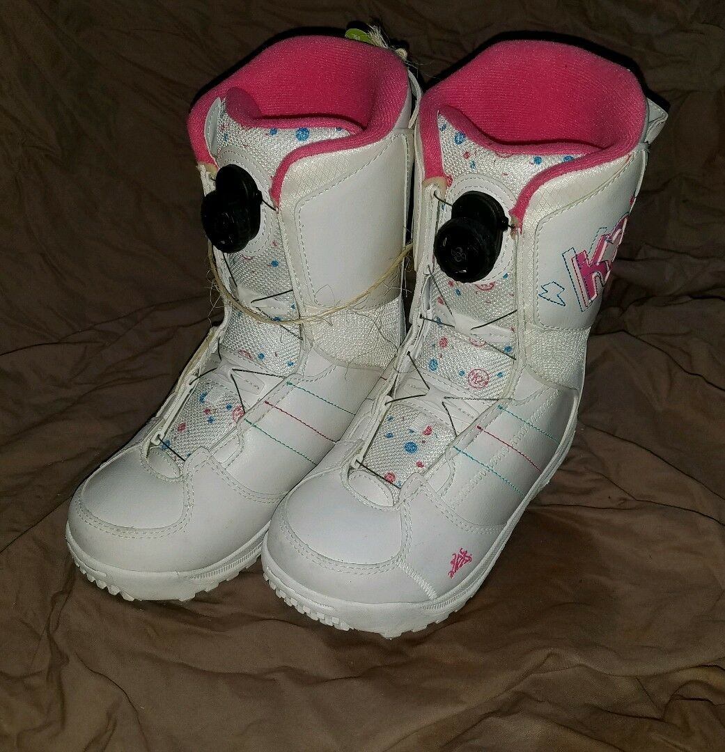 K2 Kat womens White Pink BOA size 4 Snowboard boots NEW  now