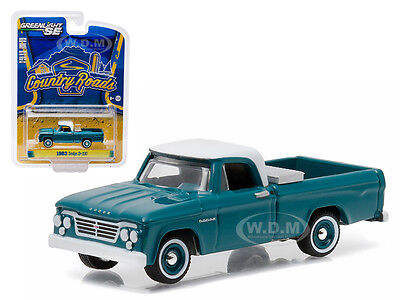 1963 DODGE D-100 WITH TOOLBOX PICKUP COUNTRY ROADS 14 1//64 GREENLIGHT 29830 A