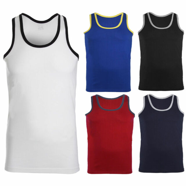 Mens Sleeveless Vest Tank Top Muscle Gym Workout Bodybuilding Muscles Fitness