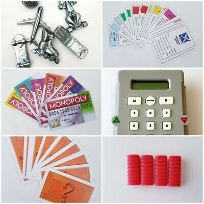 Monopoly Spare//Replacement 4 X Brown Hotels Free Postage!