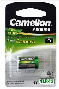 Pile batterie 4LR43 Camelion alcaline 0% mercure 6V pour photo camera PX27 4AG12