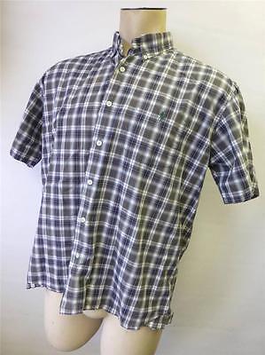 NEW MEN'S Polo Ralph Lauren Green Tartan  Short Sleeve Polo Shirt Large