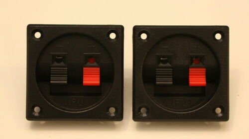 Speaker Terminals Square Set Of Two Very Nice Quality