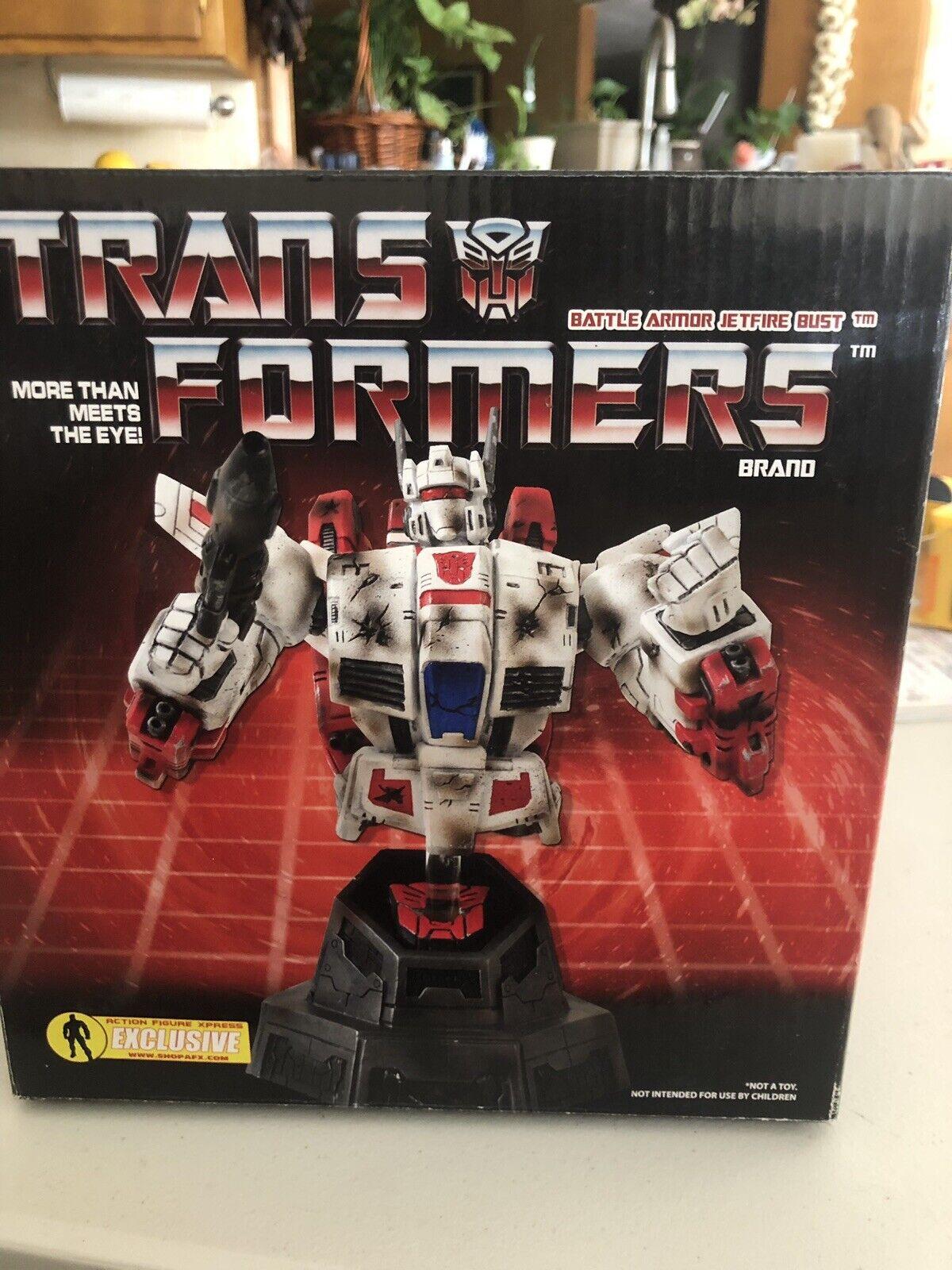 Diamond Transformers Transformers Transformers G1 Jetfire Battle Armor Variant Bust Statue AFX Exclusive bbeb43