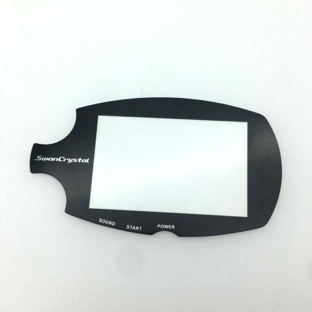 Noir Remplacement pour Bandai WonderSwan Color Crystal WSCC Écran Protecteur Lentille