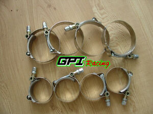 8-x-2-5-034-inch-63mm-Turbo-Pipe-Hose-Coupler-T-bolt-Clamps-Stainless-Steel-67-75mm