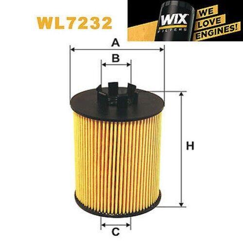 1x WIX Ölfilter WL7232 Eqv zu CH5958