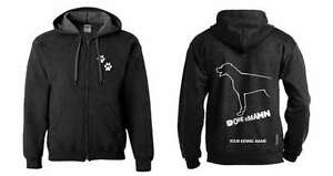 Dobermann Full Zipped Dog Breed Hoodie Exclusive Dogeria Design With The Best Service natural