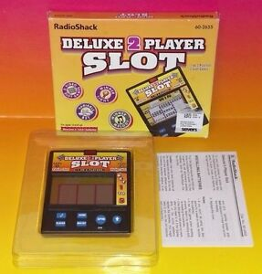 Radio-Shack-Deluxe-2-Player-Slot-Electronic-Handheld-Game-Tested-amp-Working