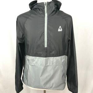 NEW-Mens-GERRY-Medium-Half-Zip-Pullover-Jacket-Windbreaker-Lightweight-Hood-Gray