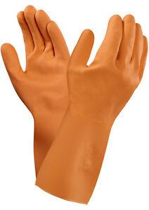 Ansell VersaTouch® 87-370- Supaweight G02T Orange Rubber Gloves
