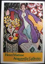 Henri Matisse Exposición Acquavella galerías cartel reproducción autorizada 1973