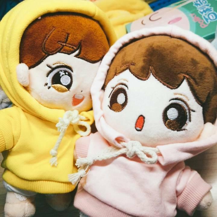 Hand-made Kpop EXO Oh Se Hun Doll Clothes Shirt Plush Hoodie Set Gift N