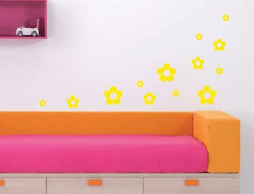 Coche Pared Arte Ventana jardín 18 X A4 Vinilo Sticker Sheet de flores 11 colores