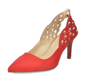 DREAM PAIRS Women/'s Wings Fashion Heel Stilettos Pointed Toe Pump Shoes