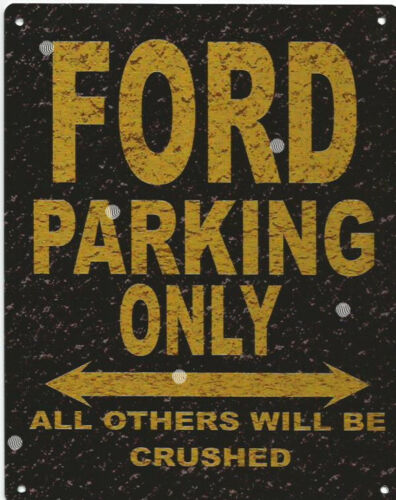 FORD PARKING METAL SIGN RUSTIC VINTAGE STYLE 8x10in 20x25cm garage