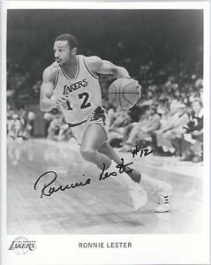 1985-86 Ronnie Lester Los Angeles Lakers Autograph Signed Photo