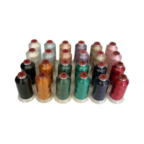 THREADELIGHT 12 BASIC COLORS  24 CONES POLYESTER EMBROIDERY THREAD