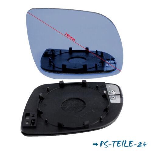 Miroir de verre pour vw passat b5 1997-2003 droit sphérique bleu côté passager