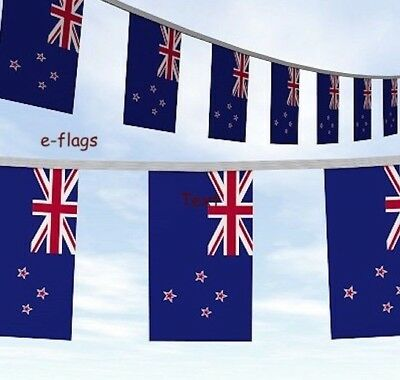 10 flags New Zealand National Bunting 3 metre