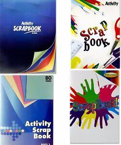 Scrap Book A4 Activity Book Art Craft Paper Scrapbook 6 Assorted