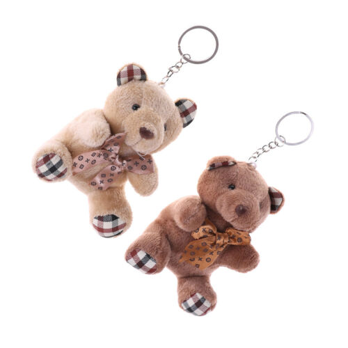 New 10cm Plush Doll Bear Fashion Phone Bag Key Chain Pendant Wedding Shed new.