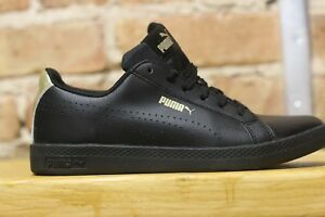 Puma-Black-and-Gold-Women-Smash-Perf-Met-Low-Top-Fashion-and-Comfort