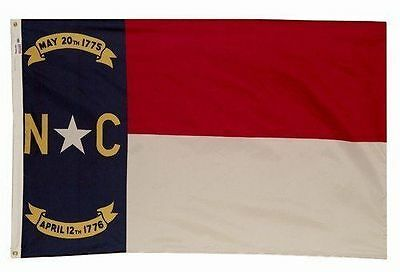 3x5 Poly North Carolina State Flag North Carolina Banner NC State Flag US Made